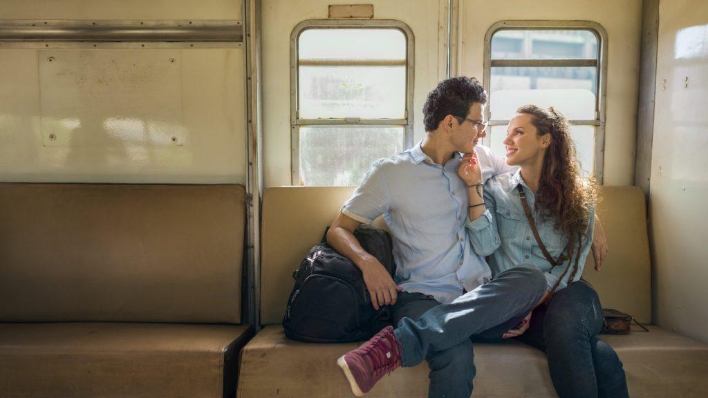 Para w pociągu
